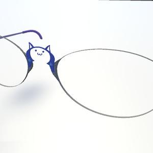 VRChat向け 猫眼鏡(VER.2)