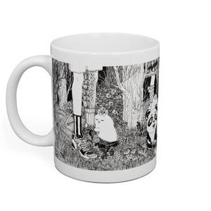 草葉の陰からマグカップ