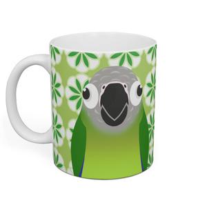 シモフリインコマグカップー緑