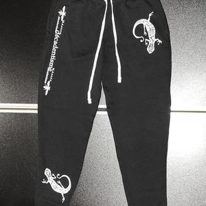 『ヤモリ』スウェットパンツ ブラック M・L