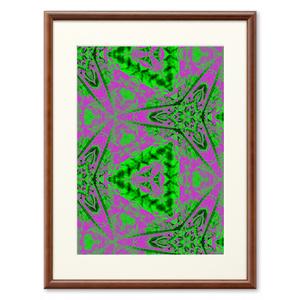 植物曼荼羅 パープル×グリーン