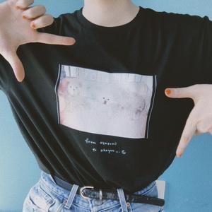 """""""マダカエリタクナイヨ‥""""T-shirts(ブラック)"""