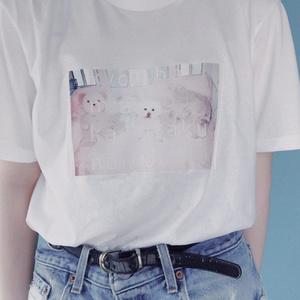 """""""マダカエリタクナイヨ‥""""T-shirts(ホワイト)"""