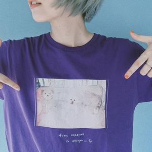 """""""マダカエリタクナイヨ‥""""T-shirts(パープル)"""