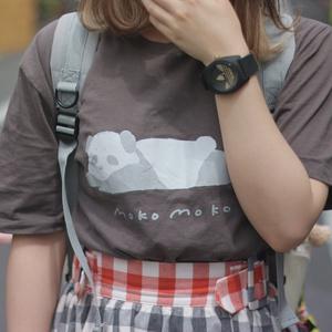 【予約受付】まろぱんTシャツ / チャコール 【10月中旬以降の発送】