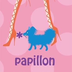 パピヨン&フラワーガール  iPhoneケース