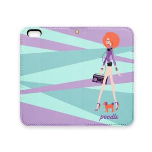 プードル&アフロガール iPhoneケース