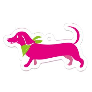 ピンクのミニチュアダックス アクキー
