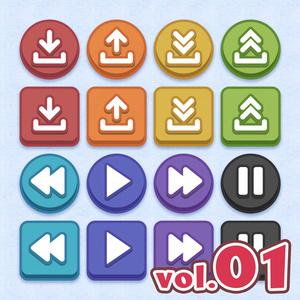 システムボタンセット vol.01