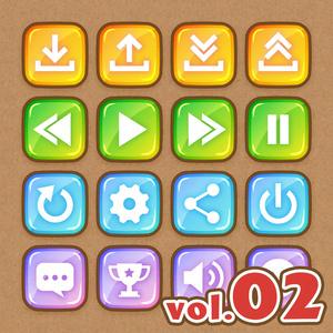 システムボタンセット vol.02