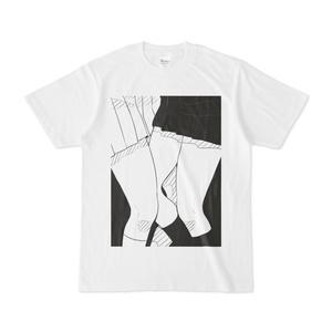 百合×女子高生×太ももTシャツ