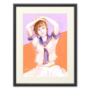 白スカートの少女。