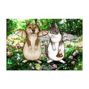 【ポストカード】犬蝙蝠と猫鶏鐘