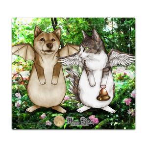 【捺印マット】犬蝙蝠と猫鶏鐘