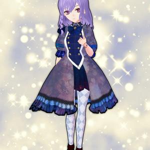 VRoid衣装軍服ワンピース【ゴシック】