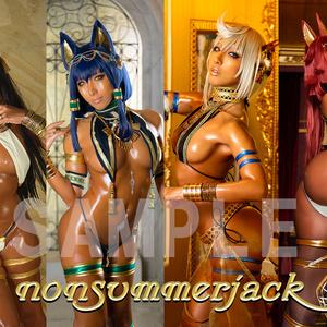 最終 歴代エジプト神A1サイズ布ポスター