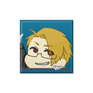 【wrwrd!】四角い缶バッジ gr