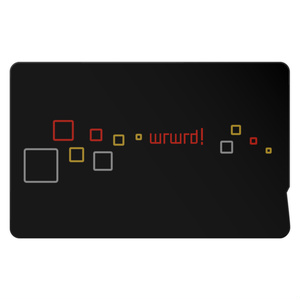 【wrwrd!】ICカードステッカー ①