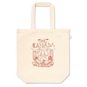 メイプルな手描きのロゴ風トートバッグ(10月の葉の色)