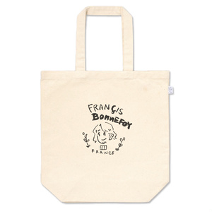 ごきげんな手描きのロゴ風トートバッグ