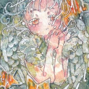 ATC作品「星の子と泣きむし」