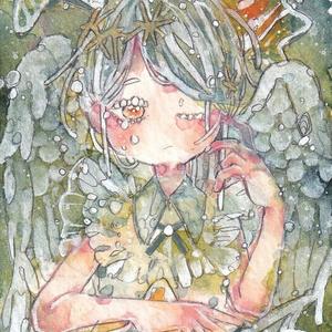 ATC作品「星の子と天使」