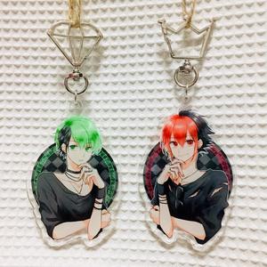 アクリルキーホルダー RED and GREEN