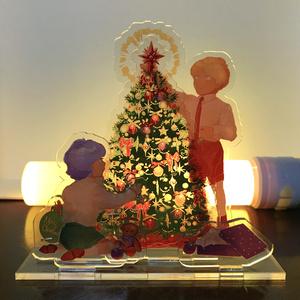 キャスバルとガルマのクリスマスアクリルジオラマ