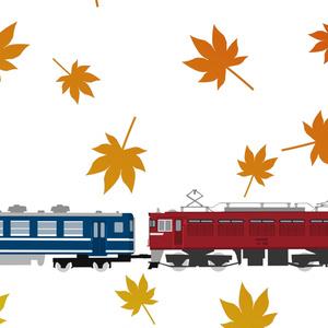 四季のED75臨時列車手ぬぐい(秋・紅葉)