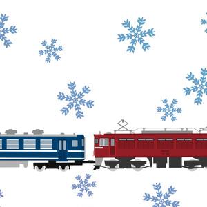 四季のED75臨時列車手ぬぐい(冬・雪花)