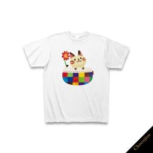 いつでも一緒だよ♪「ねこポッケ」Tシャツ