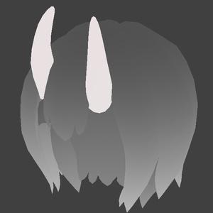 ツノと髪の素体