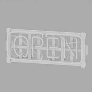 【3Dモデル】ネオン看板(OPEN)