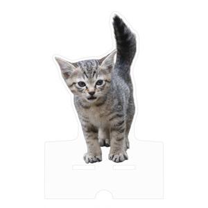 子猫 アクリルスマホスタンド(ケーブル穴あり)クリアカット