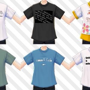 【VRoid用テクスチャ】Tシャツ色々