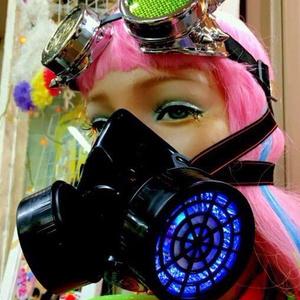 LEDガスマスク