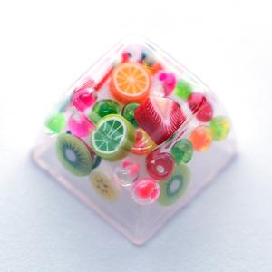 シャカシャカキーキャップ ~フルーツ~  Shaking keycap  -Fruits edition-