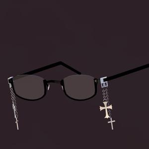 クロスチェーンアンダーリムメガネ&丸眼鏡v3(DynamicBone設定済み・調整用ボーン入り)