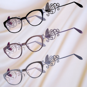 蝶装飾眼鏡(調整用ボーン入り)