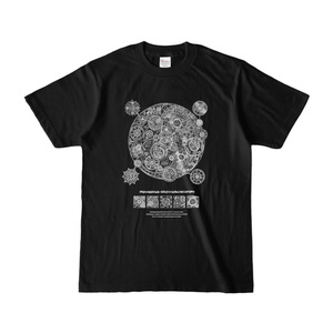 Tシャツ(正面) 魔法陣・黒