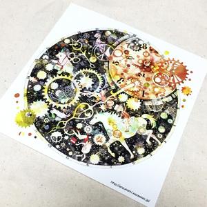 イラストカード(からくり時計のチクタクマーチ)