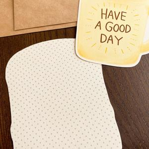 メッセージカード『野性を忘れた猫と目玉焼きトースト』