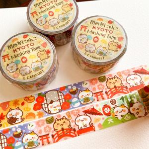 マスキングテープ『関西弁にゃんこと京都の四季』