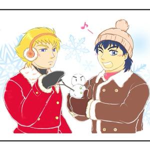 【C翼・シュナ源】マグカップ☆雪だるま