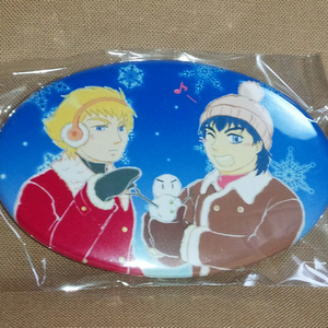 【C翼・シュナ源】缶バッジ☆雪だるま