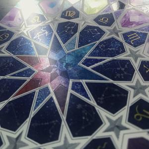星鏡箋(銀・虹 封筒セット)