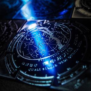 懐中星天儀紙盤(青)