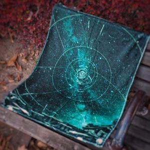 星の軌跡(緑) (星を纏う ハーフブランケット)