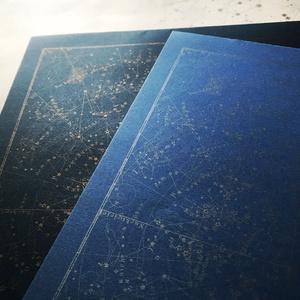 星座図レターパッド(青銀)
