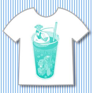 クリームソーダの海 Tシャツ
